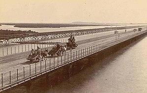 Kiamari - Napier Mole Bridge in 1900