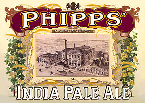 India pale ale - 19th century poster for Phipps, an IPA brewer in Northampton.