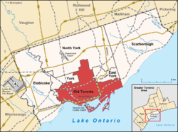 City of Toronto before 1998 in red