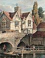 Old buildings on the West bridge, Leicester.jpg
