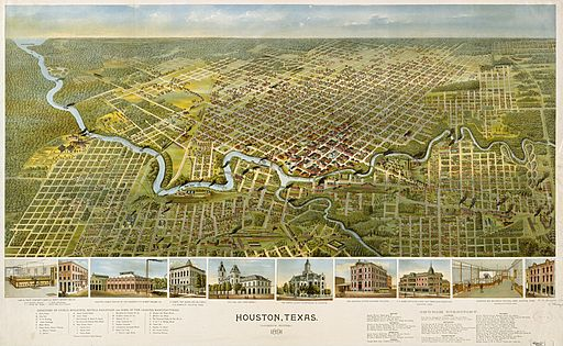 Old map-Houston-1891