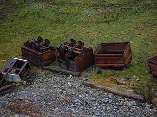 Towerlands Tram Road railway in North Ayrshire, Scotland, UK