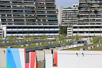Olympic Village, Munich - Image: Olympic Village Munich, July 2018 02