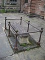 One of the remaining graves around St. Mary's church, Stockport.jpg
