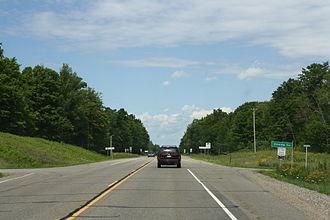 Oneida County, Wisconsin - Oneida County sign on U.S. Route 45