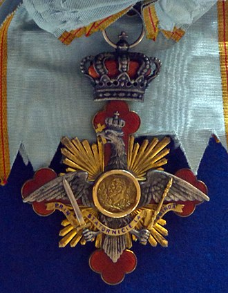 Order of Carol I - The badge and sash of the order