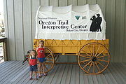 Baker City is home to the National Historic Oregon Trail Interpretive Center.