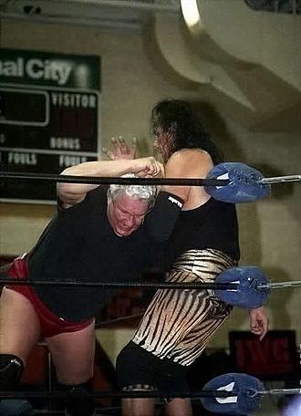 Bob Orton Jr. - Orton in a match against Jimmy Snuka in 2009.