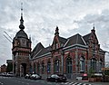 Oudenaarde train station during civil twilight (DSCF9172).jpg