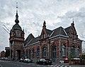 Oudenaarde train station during civil twilight (DSCF9172).jpg