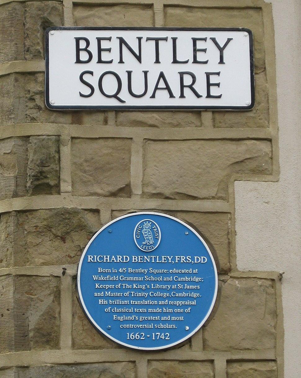 Oulton Bentley Square Plaque 2016