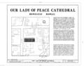 Our Lady of Peace Cathedral, 1183 Fort Street, Honolulu, Honolulu County, HI HABS HI,2-HONLU,21- (sheet 1 of 8).png