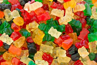 Gummy bear - Gummy bears produced by Haribo, the first company to manufacture gummy bears.