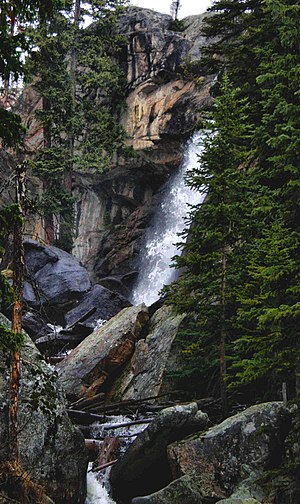 Wild Basin, Rocky Mountain National Park - View of Ouzel Falls