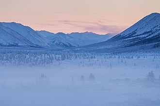 Oymyakon - Landscape near Oymyakon in February 2013