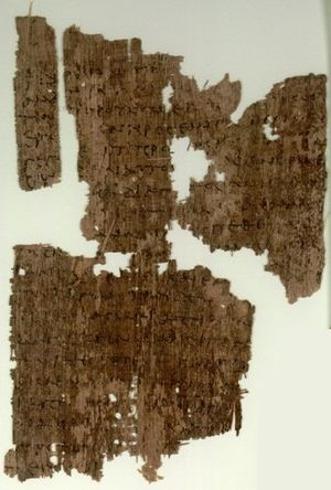 John 1 - John 1:29-35 on Papyrus 106, written in the 3rd century