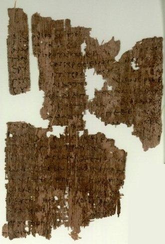 John 1 - John 1:29-35 on Papyrus 106, written in the 3rd century