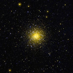 Ultraviolet photography - Ultraviolet image of the globular cluster NGC 1851 in the southern constellation Columba.