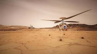 Mars aircraft - Helicopter on Mars concept