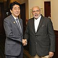 PM Modi and Shinzo Abe bilateral engagement in Brisbane – November 14, 2014.jpg