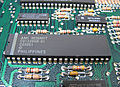POKEY chip on an Atari 130XE motherboard.jpg