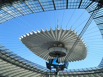 Retractable roof - National Stadium, Warsaw.