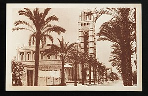 Port Said Governorate - PORT SAÏD -- The French Cathedral and Kitchner Street