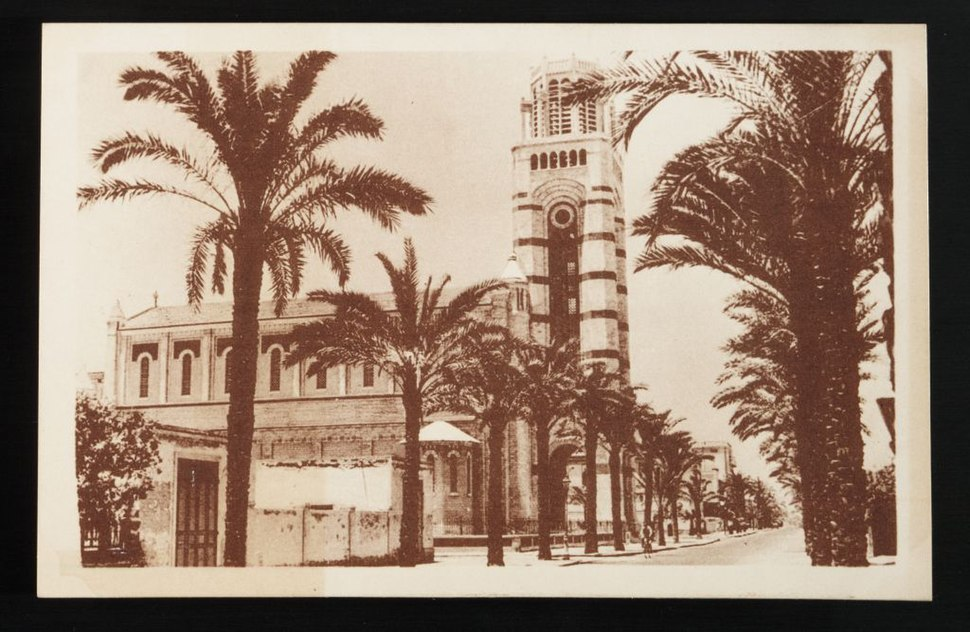 PORT SAÏD -- The French Cathedral and Kitchner Street (n.d.) - front - TIMEA