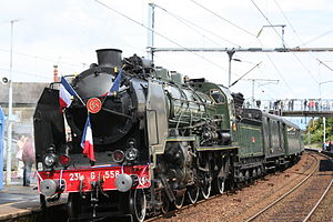 French locomotive classification - SNCF 231G 558 pulling an excursion train in June 2009