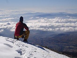 Puebla - View from the summit of Pico de Orizaba