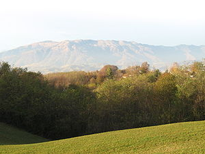 Montello (hill) - View from Montello towards the Alps