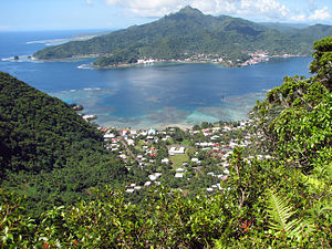 English: Pago Pago Harbor, Tutuila Island, Ame...