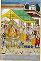 Painting. Epic. A Hindu ruler enthroned, from the Razmnáma? On paper..jpg