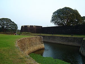 Palakkad district - View from outside the northern wall of Palakkad fort.