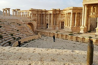 Roman Theatre at Palmyra - The theater in March 2016