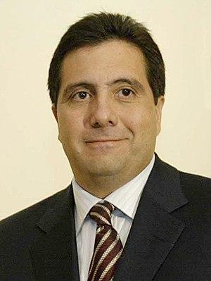 Português: El presidente de Panamá Martín Torr...
