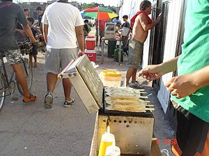 Corn dog - Panchukers in Argentina