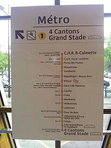 Ligne 1 du m tro de lille m tropole wikimonde - Station essence porte des postes lille ...