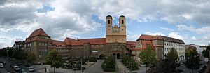 """Baumschulenweg - Panorama of the church """"Zum Vaterhaus"""""""