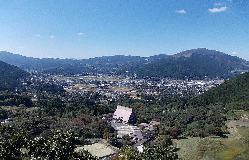 Panorama view of Yufuin