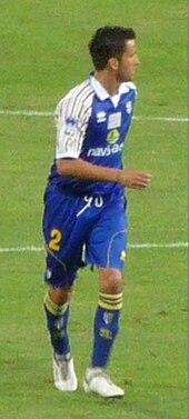 Panucci nel 2009 al Parma, impegnato nella trasferta di Udine.