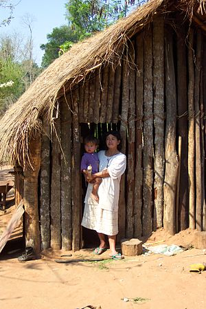 Chaco (Paraguay) - Indigenous mother and child in the Paraguayan Chaco