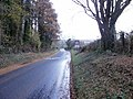 Parc-y-Brain Road narrows to a single track - geograph.org.uk - 1588639.jpg