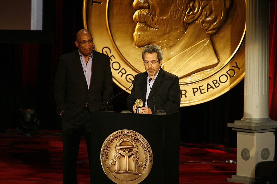 Paris Barclay and Warren Leight at the 69th Annual Peabody Awards for In Treatment