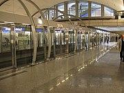 This station of the Paris Métro Line 14 has automatic platform-edge doors.