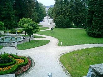 Tivoli City Park - Tivoli City Park, Ljubljana. View from Tivoli Castle.