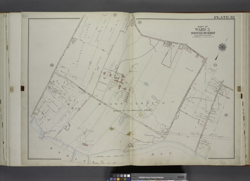 File:Part of Ward 5. (Map bound by Amboy Road, Bedell St (Seguine RD). Sharrot Ave (Pleasant Plains RD), Excelsior Ave, Finley Ave, Woodvale Ave, Bulkhead Line Page St (Beach St)) NYPL1646299.tiff