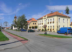 Main street with municipal office