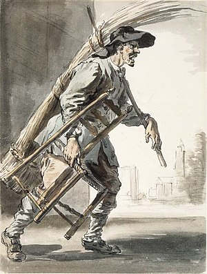 Caning (furniture) - Cane chair weaver, 1759, by Paul Sandby