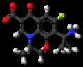 Pazufloxacin zwitterion ball.png